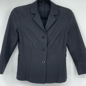 Theory women's blazer waxed feel black fitted